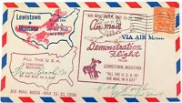 .1938 LEWISTOWN, MONTANA DEMONSTRATION / FIRST AIR MAIL FLIGHT 4 CACHETS COVER.