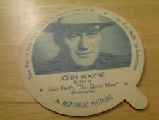 "1952 John Wayne LIDS NELSON ICE CREAM NM Condition ""The Quiet Man"" CO-Star"