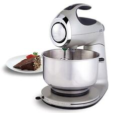 Professional Stand Mixer Electric Dough Baking Cake Cooks Stainless Steel Silver