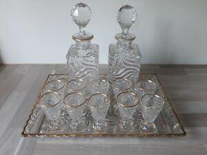 ancien service a liqueur en cristal de baccarat 19 eme