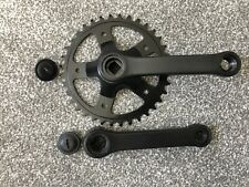 Steel Single Chainring Chainset - Black - 36t - 127mm Cranks