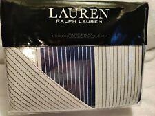 Ralph Lauren Casey Stripe King Duvet Cover Set Blue Pinstripe Shams NWT