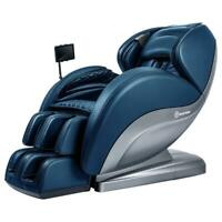 Zero-Gravity Full-Body 3D SL-Track Real Relax Massage Chair. 2020 Model - Blue
