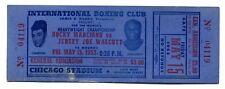 Original 1953 Rocky Marciano vs Jersey Joe Walcott Full Unused Boxing Ticket