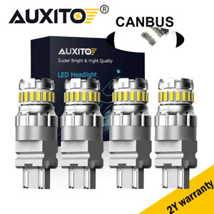 4x Error free LED 3156 3157 Backup Reverse Light Bulbs 4057 4157 T25 6500K White