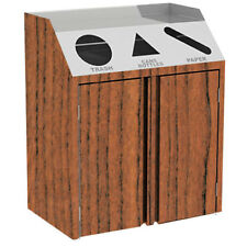 """Lakeside 4415 48-1/2""""Wx23-1/4"""" ;Dx45-1/2""""H 92 Gallon Waste & Recycle Station"""