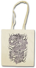 CHINESE TATTOO DRAGON III SHOPPER SHOPPING BAG - Asia China Oldschool Rockabilly