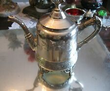 SUPERIOR ANTIQUE MERIDEN SILVER PLATE EXTREME ORNATE TEA POT