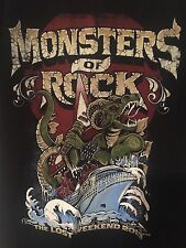 Monsters of Rock 2013 Cruise Women's T shirt Size 2XL Heavy Metal Hair Bands
