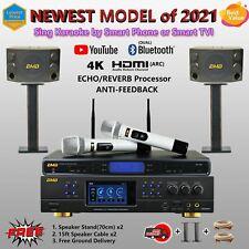 2021 BMB DAR-350H 4K HDMI ARC, WB-5000 UHF Wireless Microphone, CSD-2000 Speaker