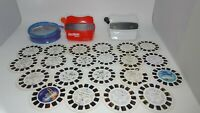 Vintage 3D ViewMasters & 21 Reel Lot with case