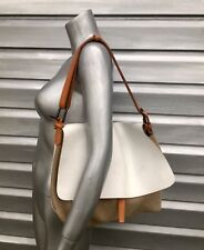 MASSIMO PALOMBA White Crackled Leather Fold Over Satchel Handbag SOLD OUT!!
