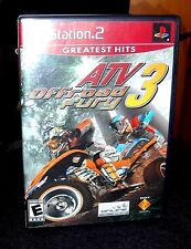 ATV Offroad Fury 3 (Sony PlayStation 2, 2004) Game, Book, Case