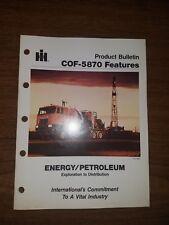 1982 INTERNATIONAL HARVESTER COF-5870 PRODUCT BULLETIN