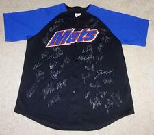 2014 NEW YORK METS TEAM SIGNED BASEBALL JERSEY by 34 w/ PROOF! DAVID WRIGHT