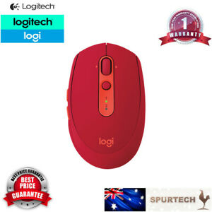 Logitech M590 Silent Flow Multi-Device Bluetooth Mouse support MAC Red