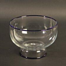 Schale Murano Glas mit blauem Rand CVM oder MVM Cappellin Venini 1920-40