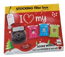 I Love My Cat Tasty Treat Food Gift 3 x 50g Christmas Stocking Filler Box