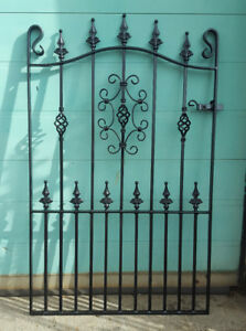 Wrought Iron Metal Garden Gate/Gates-TOP QUALITY-4FT(1219mm)Frame height-AVON