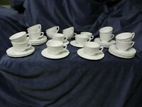 Indiana Colony Milk Glass Opaque White Harvest Grape Cups and Saucers- Set of 4