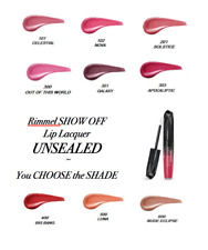 RIMMEL SHOW OFF Lip Lacquer CHOOSE *B2G2FREE* ADD 4 TO CART **UNSEALED**