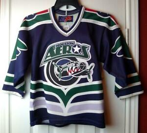 Houston Aeros Hockey Jersey Child's Size Medium Minor League
