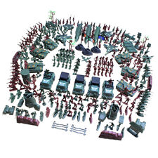307 Piece Plastic Toy Soldier Playset Army Men Action Figure Scene Model