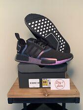 Adidas NMD R1 Eggplant Men FV8732 Black Purple Knit Boost Running Shoe Size 10.5