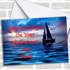 Sailing Boat Personalised Retirement Card