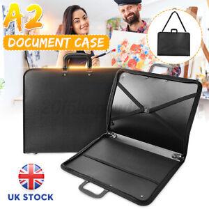 UK A2 DESIGN PORTFOLIO WATER PROOF BLACK CASE ART WORK PAINTING FOLDER BAG