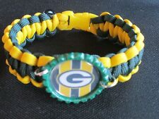 "Green Bay Packers NFL Pacarcord Bracelet - Size 8.5"" ( 7.5"" wrist)"