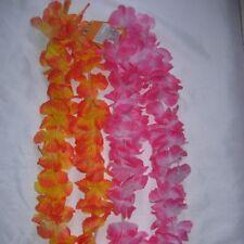 50 Hawaii Blumen Lei Kostüm pink