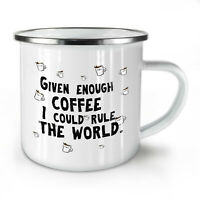 Coffee Rules NEW Enamel Tea Mug 10 oz | Wellcoda