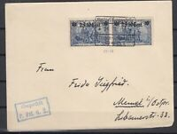 B2539/ GERMANY WWI WESTERN FRONT – MI # 12 A PAIR ON COVER
