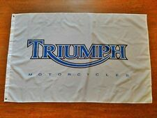 TRIUMPH MOTORCYCLES WHITE FLAG BANNER 3X5FT