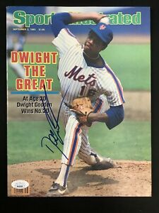 Dwight Gooden Signed Sports Illustrated 9/2/85 No Label Mets Autograph JSA