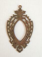 Ancien Cadre miniature / pendentif en métal, vers 1900 art nouveau porte photo