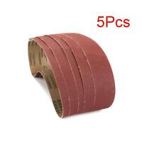 """5Pcs 2"""" x 36"""" Sanding Belt Aluminum Oxide For Sander Replacement Accessories 80#"""