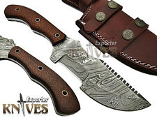 Knives Exporter Custom Damascus Steel USA Tracker Knife KE-806, Micarata Handle