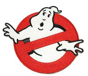 """3.5"""" GHOSTBUSTERS GHOST Movie Logo BUSTERS IRON-ON Embroidered Applique Patch"""
