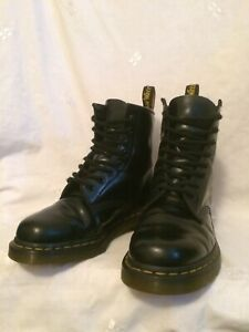 GENUINE DR MARTENS 10072 BLACK MILLED LEATHER BOOTS X CON! UK5 EU38 US7 RRP£150