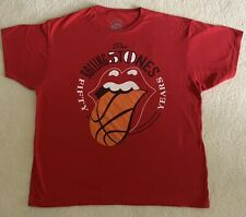 XL Rolling Stones Chicago Concert 2013 50 Fifty Years Red T- Shirt