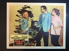 "11""x 14""  ""FULL OF LIFE""  1957 MOVIE FILM PROMO THEATER LOBBY CARD"