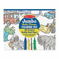 Melissa And Doug Jumbo Multi-Theme Blue Coloring Pad NEW Toys Kids Traditional