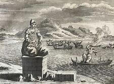 Représentation d' Amida et diverses manieres de se noyer Picart 1724 Japon japan