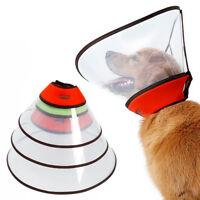 Pet Elizabethan E-Collar Large Dog Wound Healing Cone Anti Biting Scratching Hot