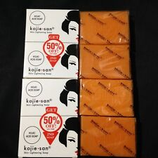 Kojie San Kojic acid skin Whitening soap X4 bars Original Authentic 135g each