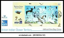 BRITISH INDIAN OCEAN TERRITORY - 2006 BARTON POINT BIRD LIFE - MIN/SHT - FDC