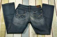 BKE Buckle Jeans Size 35 X 33 Women's {CULTURE} Boot Cut Denim Distressed #J1