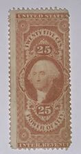 Travelstamps: 1862-1871 US Stamps Scott # R48c, 25 Cents, Power Of Atty, Mint Ng